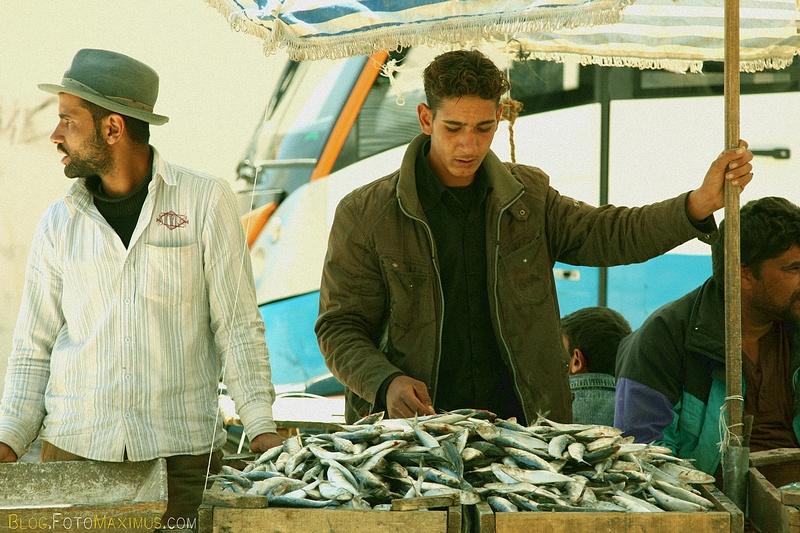 Egipt, targ w Dakharze