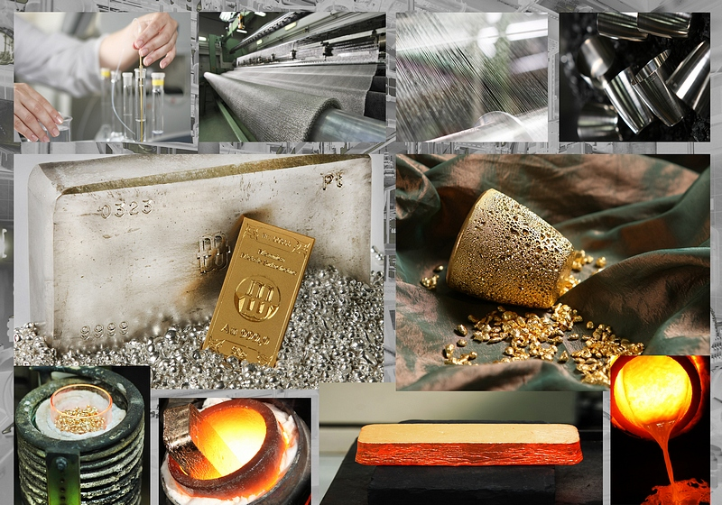 laboratorium, produkcja, półfabrykaty i wyroby gotowe ze złota i platyny