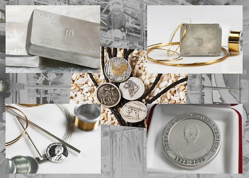 półfabrykaty i wyroby gotowe ze srebra, złota i platyny